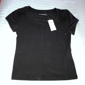 Abercrombie & Fitch black crop tee xs